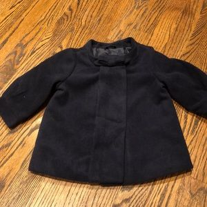 Girls navy pea coat